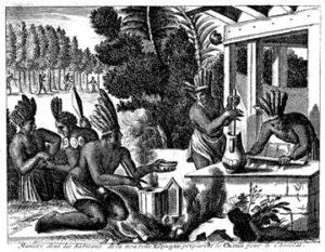 Les mayas préparent le cacao