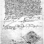 Fac-similé du décret de l'Alhambra