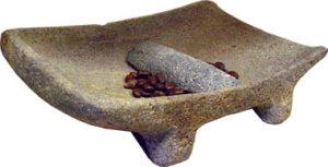 Métate, la pierre à chocolat