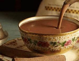 Tasse de chocolat au 17ème siècle