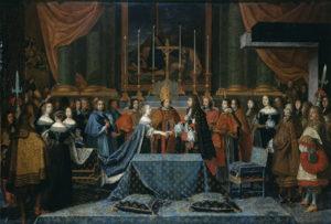 gravure du mariage de l'infante Marie Thérèse et de Louis XIV