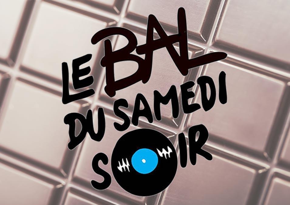 Logo Le Bal du Samedi Soir sur fond chocolaté