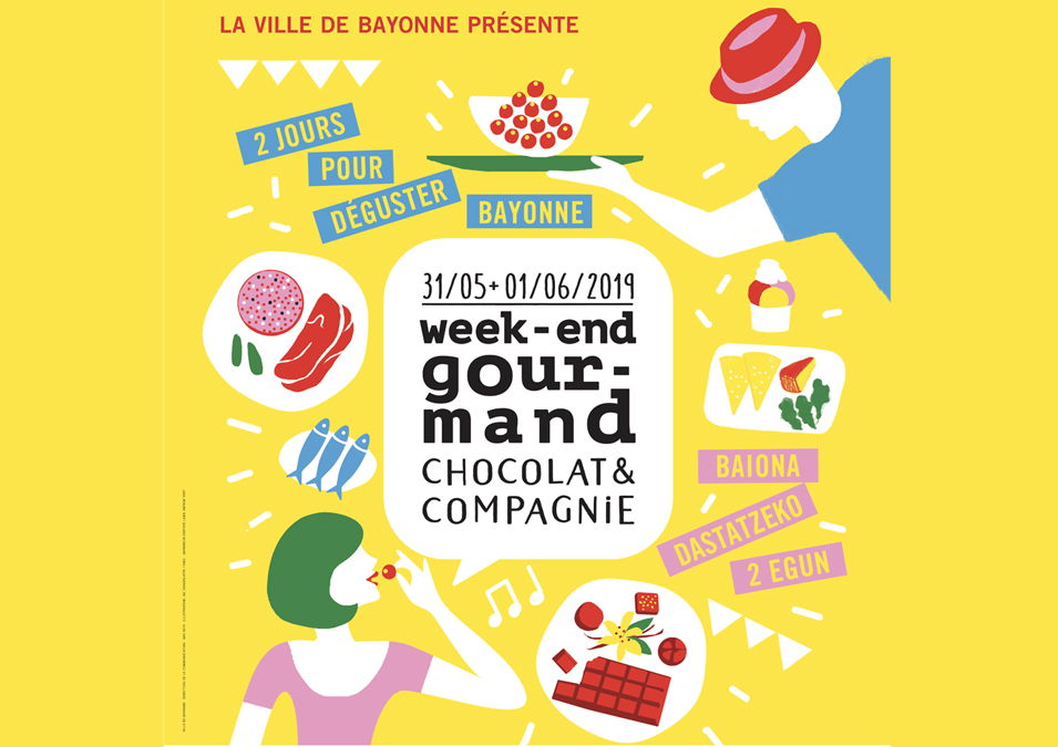 Affiche Week-end gourmand chocolat et compagnie