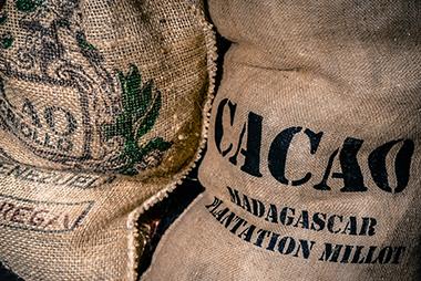 Sacs de fèves de cacao