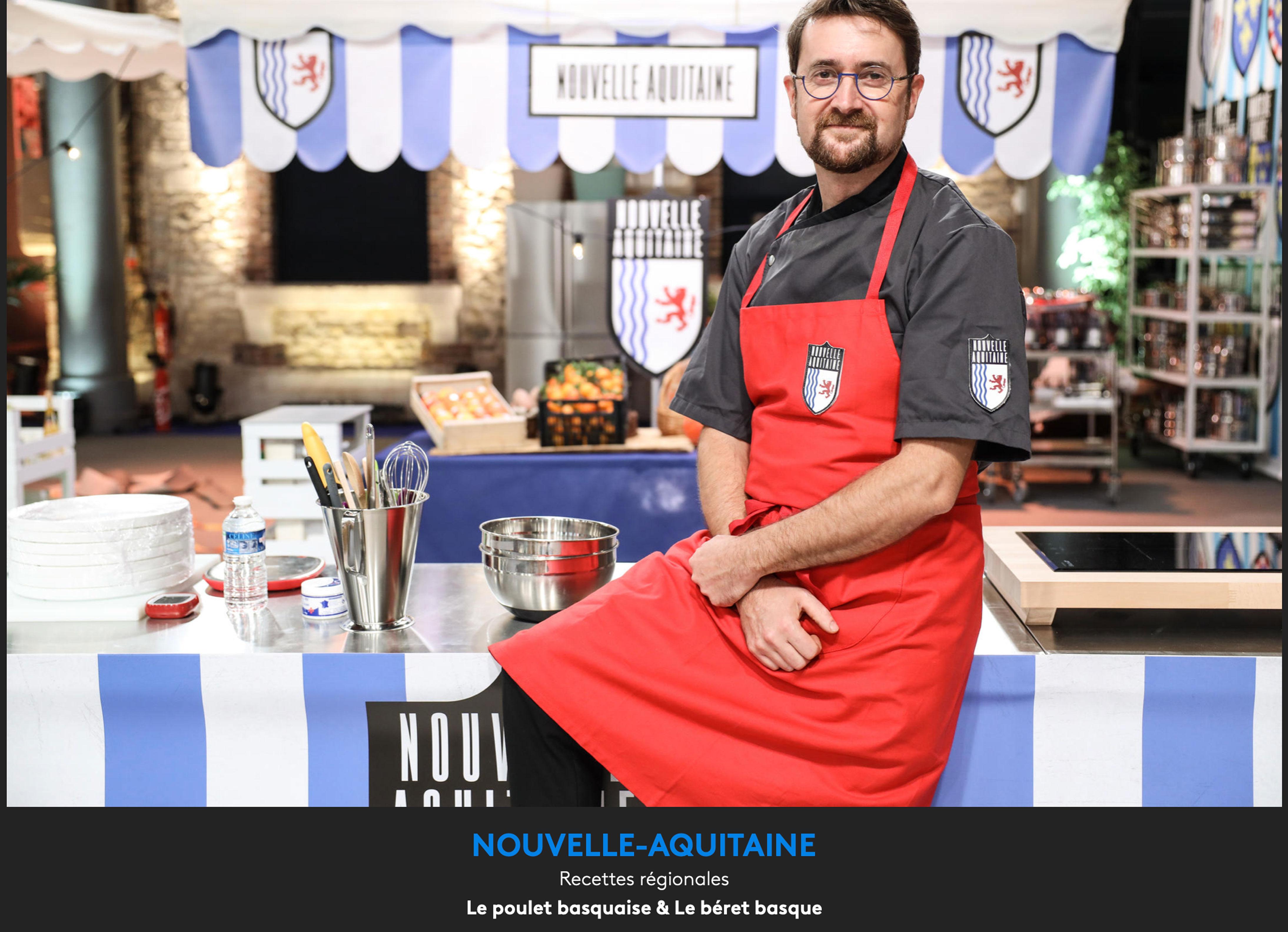 Portrait de Xavier Isabal représentant Nouvelle Aquitaine dans la meilleure recette de France